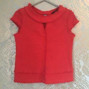 Zara Basic Red Thick Knit Blouse